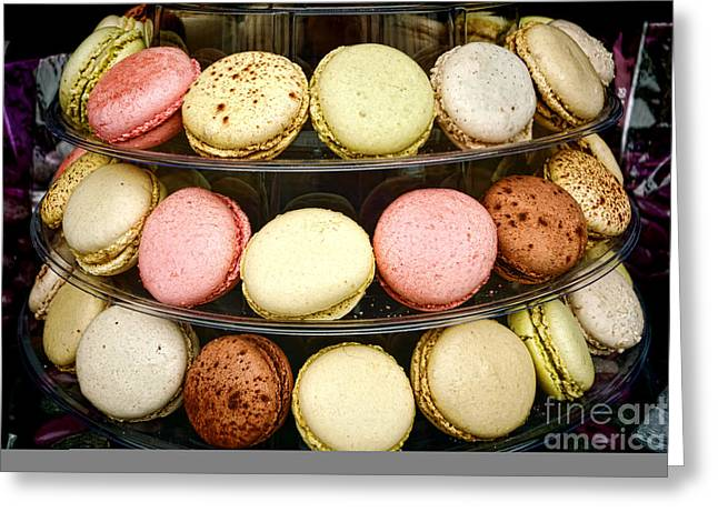 Soft Pastels Greeting Cards - Macaroons Greeting Card by Olivier Le Queinec