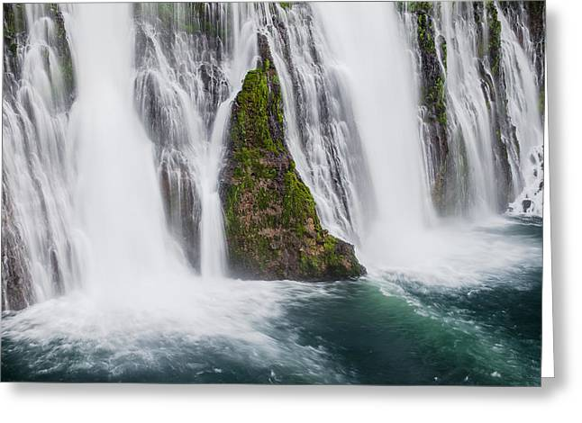 Macarthur Greeting Cards - MacArthur-Burney Falls in Spring Greeting Card by Greg Nyquist