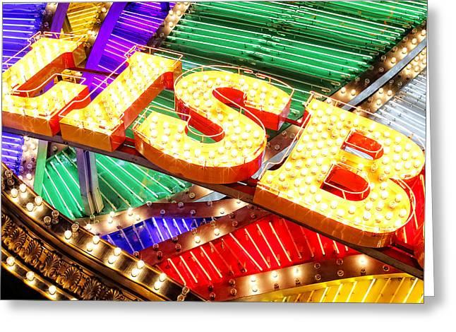 Matsu Greeting Cards - Macau Bright Lights Greeting Card by Hakai Matsu
