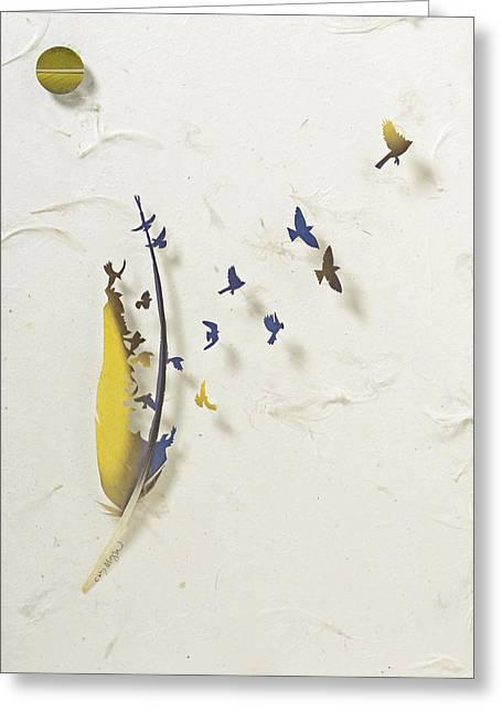 Macaw Art Greeting Cards - Macaw Dance 5 Greeting Card by Chris Maynard