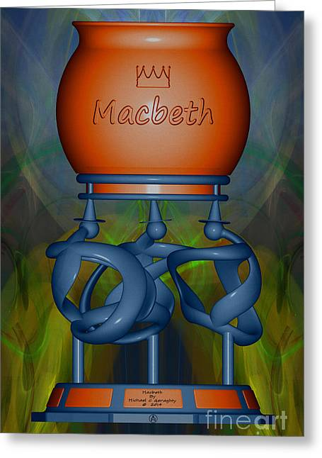 Stainless Steel Digital Art Greeting Cards - Macbeth  -  Wedgewood Complimentary Greeting Card by Michael C Geraghty