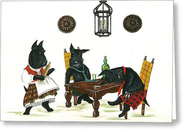 Basement Art Paintings Greeting Cards - MacDrunk Greeting Card by Margaryta Yermolayeva