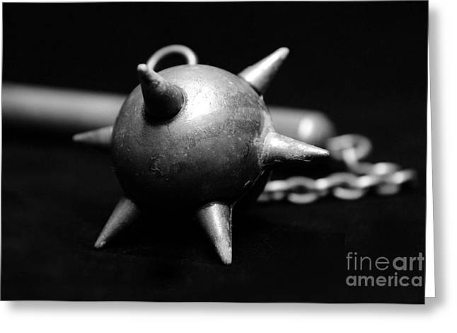 Chain Mail Greeting Cards - Mace  Medieval Weapon Greeting Card by Paul Ward