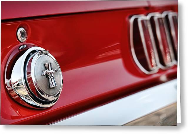 1964 Ford Emblems Greeting Cards - Mach 1 Ford Mustang 1969 Greeting Card by Gordon Dean II