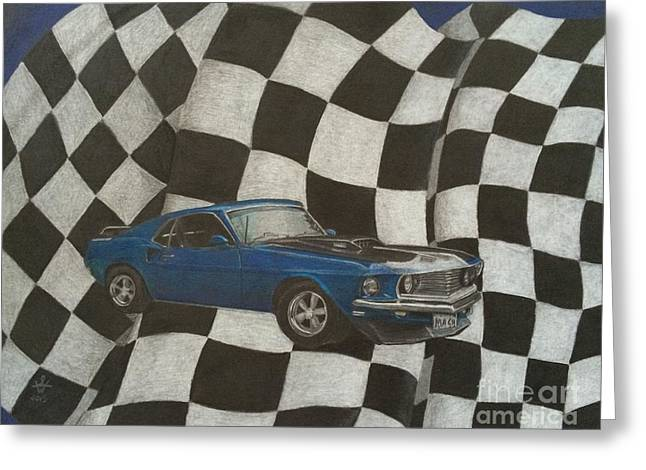 Vroom Greeting Cards - Mach Speed Greeting Card by Ambre Wallitsch