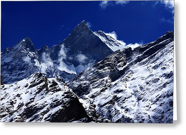 Annapurna Greeting Cards - Machhapuchchhre 6997m Greeting Card by Aidan Moran