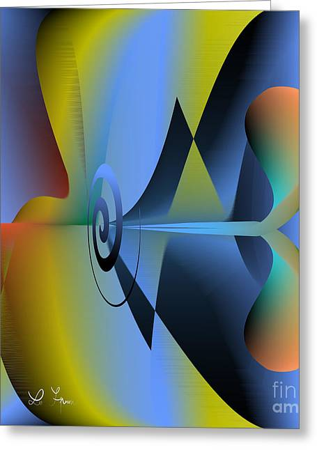 Machine For Happiness Greeting Card by Leo Symon