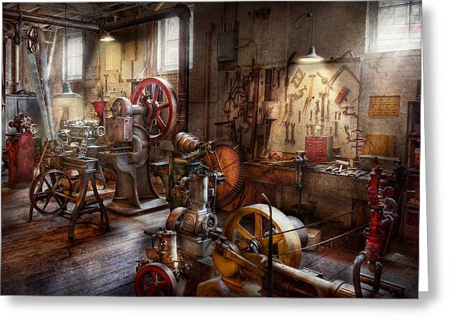 Machinist - A Room Full Of Memories  Greeting Card by Mike Savad