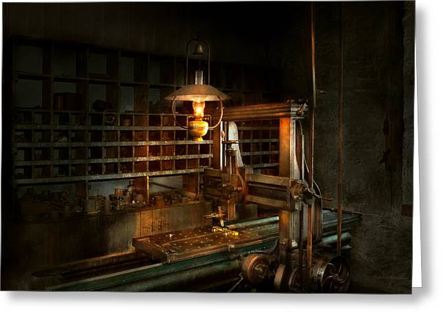 Machinist - At The Millers  Greeting Card by Mike Savad