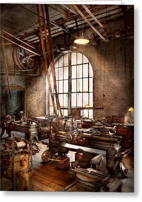 Machinist - I Like Big Tools Greeting Card by Mike Savad