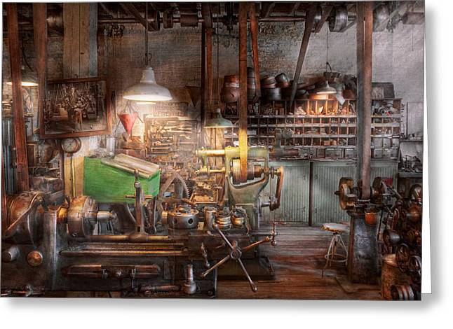 Machinist - It all starts with a Journeyman  Greeting Card by Mike Savad