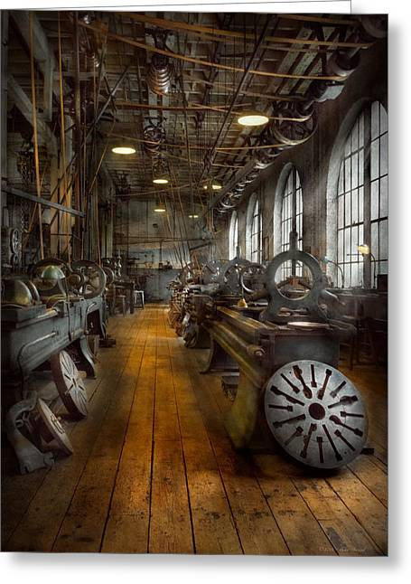 Machinist - Lathes - The Original Lather Disc  Greeting Card by Mike Savad