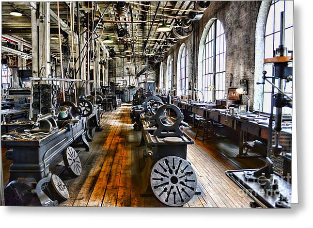 Factory Workers Greeting Cards - Machinist - Precision Matters Greeting Card by Paul Ward
