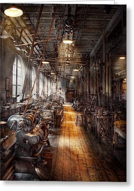 Machinist - Welcome To The Workshop Greeting Card by Mike Savad