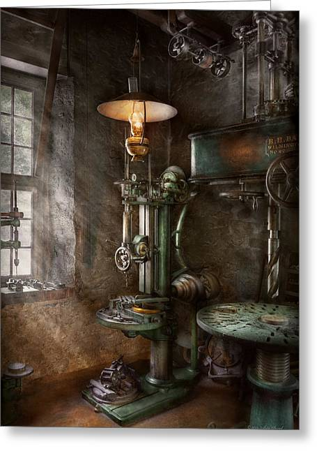 Machinist - Where Inventions Are Born Greeting Card by Mike Savad