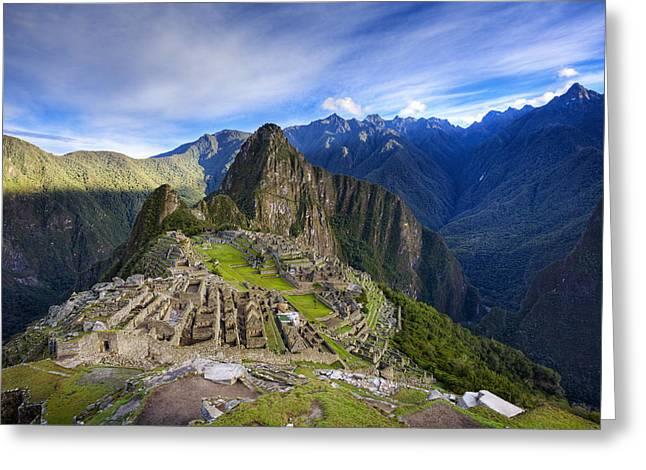Machu Picchu Greeting Cards - Machu Picchu Greeting Card by Alexey Stiop