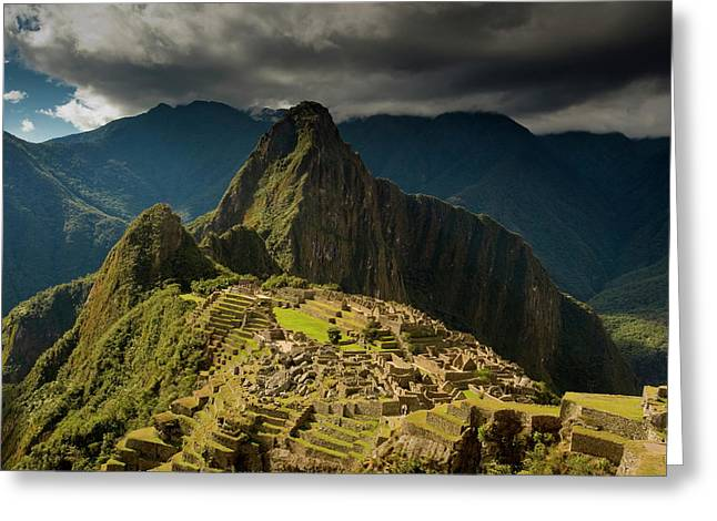 Machu Picchu, Ancient Ruins, Unesco Greeting Card by Howie Garber