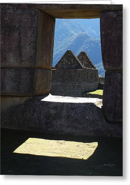 Civilization Greeting Cards - Machu Picchu Peru 6 Greeting Card by Xueling Zou