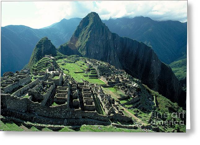 Lost Civilization Greeting Cards - Machu Picchu, Peru Greeting Card by Gregory G. Dimijian