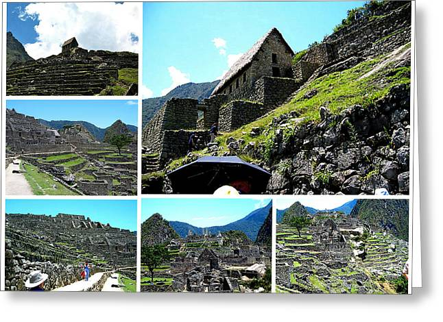 Mountain Valley Greeting Cards - Machu Picchu Peru Greeting Card by Jay Milo