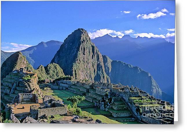 Machu Picchu Greeting Cards - Machu Picchu Peru Greeting Card by Ryan Fox
