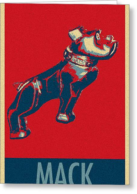 Stencil Portrait Greeting Cards - MACK in HOPE Greeting Card by Rob Hans