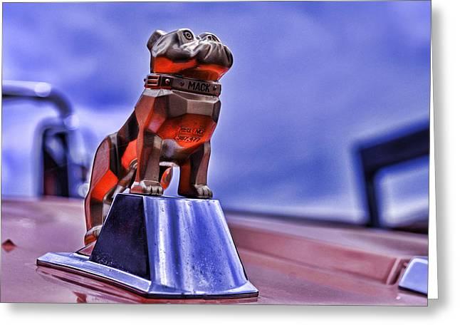 Mascots Greeting Cards - Mack the Bulldog Mascot Greeting Card by Paul Ward