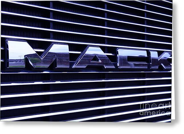 Manufacturing Greeting Cards - Mack Truck Grill Greeting Card by Paul Ward