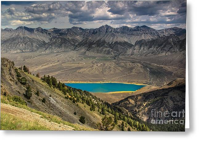 Mackay Reservoir And Lost River Range Greeting Card by Robert Bales