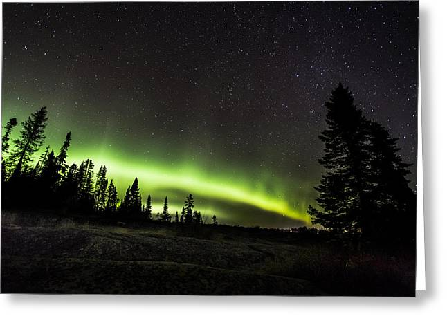 40mm Greeting Cards - MacKenzie Point Aurora 3 Greeting Card by Jakub Sisak
