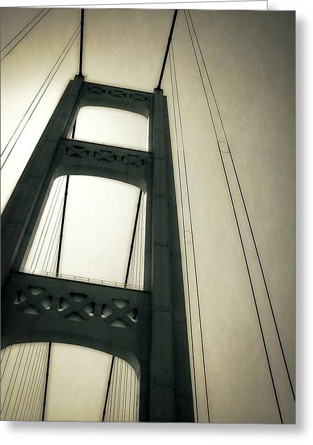 Mackinaw City Greeting Cards - Mackinac Bridge 2.0 Greeting Card by Michelle Calkins
