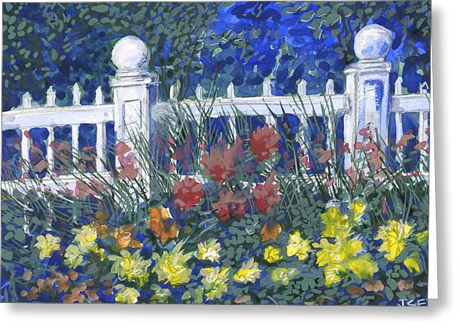 Recently Sold -  - Jeremy Greeting Cards - Mackinac Gardens Greeting Card by J S  Ferguson