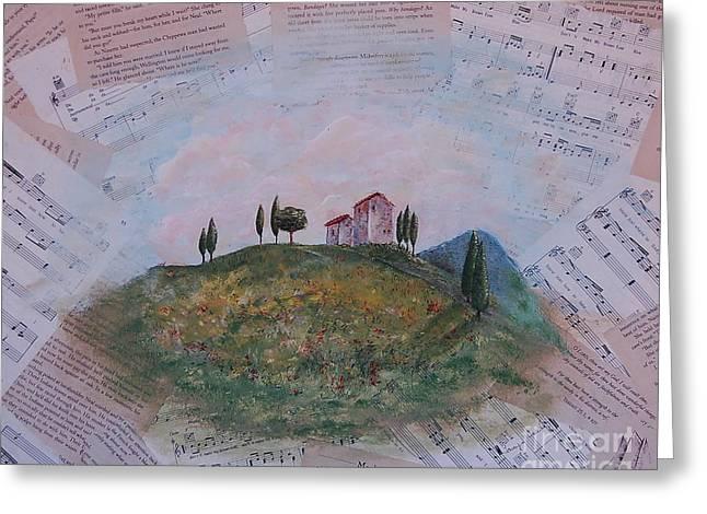 Tuscan Hills Mixed Media Greeting Cards - MacKinnac Island Greeting Card by Tamyra Crossley