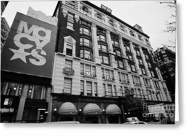 Macys department store new york city Greeting Card by Joe Fox