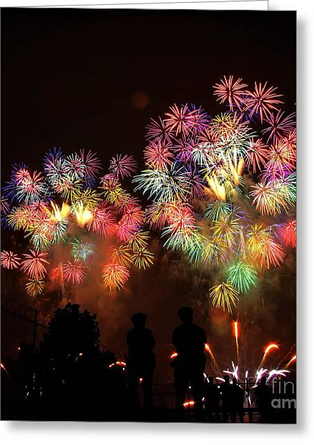 New York Cops Greeting Cards - Macys July 4th Fireworks New York City  Greeting Card by Nishanth Gopinathan