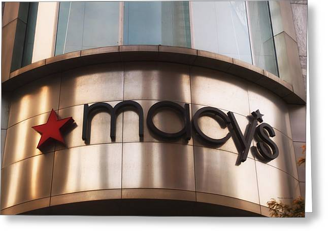 Macys Signage Greeting Card by Thomas Woolworth