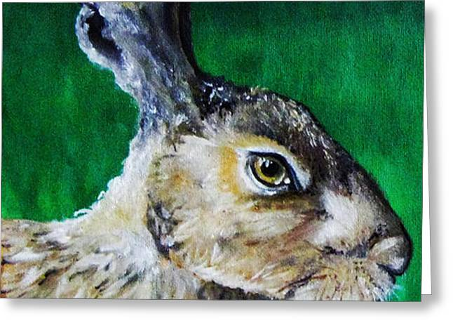 Mad as a March Hare Greeting Card by Stacey Clarke