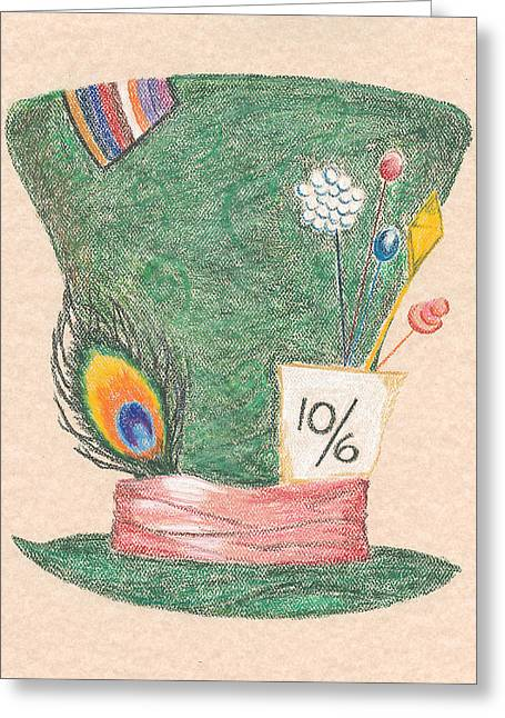 Mad Hatter Greeting Cards - Mad Hat Greeting Card by Chu-Hua Mou