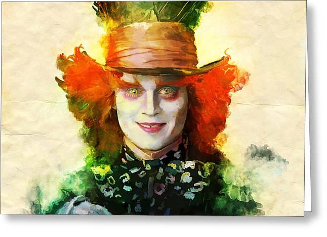 Mad Hatter Greeting Cards - Mad Hatter Greeting Card by April Gann