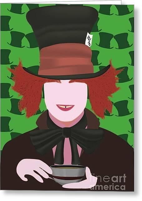 Mad Hatter Greeting Cards - Mad Hatter Greeting Card by Martin Salatta