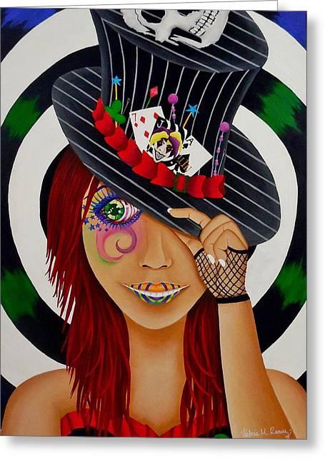 Mad Hatter Greeting Cards - Mad Hatter Greeting Card by Victoria  Ramirez
