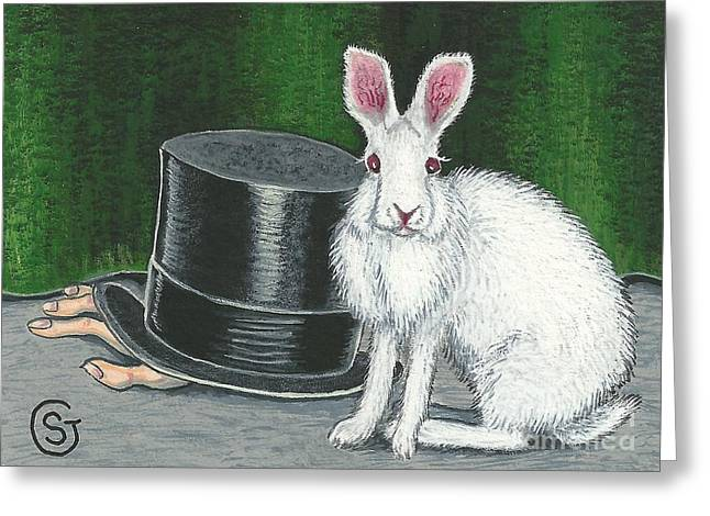 March Hare Greeting Cards - Mad March Hare -- Now You See How It Feels Greeting Card by Sherry Goeben