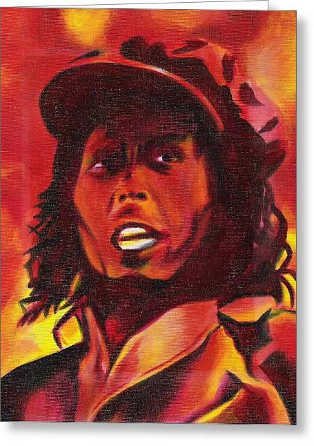 Bob Marley Artwork Greeting Cards - Mad Marley Greeting Card by Paul Smutylo