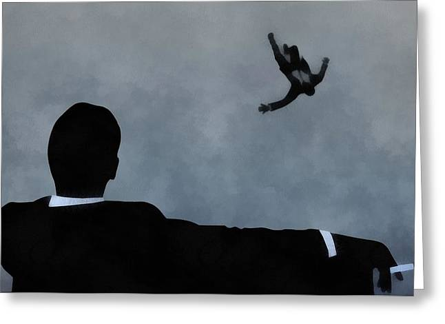 Moss Man Greeting Cards - Mad Men Art Greeting Card by Dan Sproul