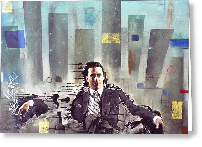 John Lyes Greeting Cards - Mad Men Disintegration of Don Draper Greeting Card by John Lyes