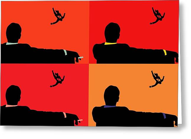 Moss Man Greeting Cards - Mad Men Pop Art Collage Greeting Card by Dan Sproul