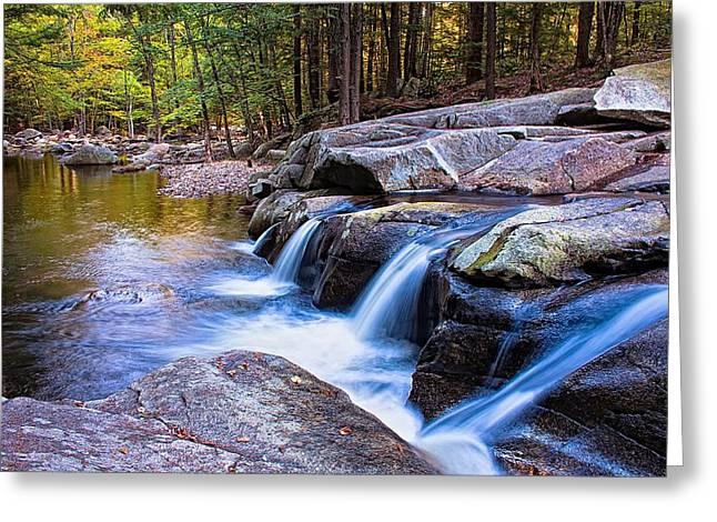 Farmington Greeting Cards - Mad River Falls Farmington NH Greeting Card by Jeff Sinon