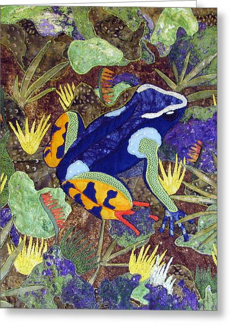 Amphibians Tapestries Textiles Greeting Cards - Madagascar Mantella Greeting Card by Lynda K Boardman