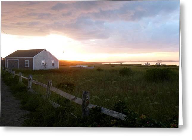 Nantucket Sound Greeting Cards - Madaket Sunset Greeting Card by Natasha Marco