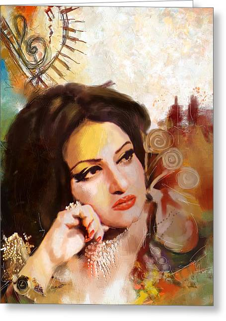 Sufi Dancer Greeting Cards - Madam Noor Jehan Greeting Card by Catf